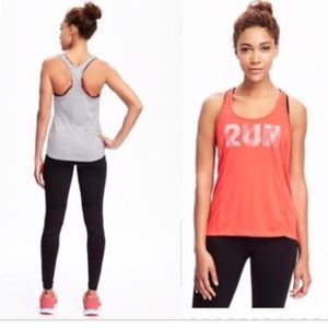 Old Navy Semi Fitted Run Racerback Tank Top NWT